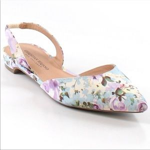 Women Floral flat sandalia pointed
